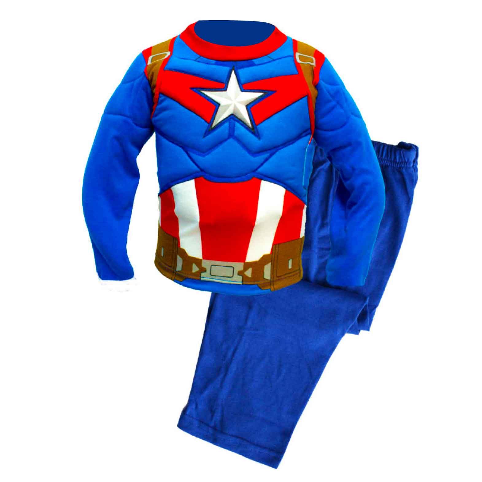 9a356ac6cf Pijama con musculo de Capitan America – Enanitos
