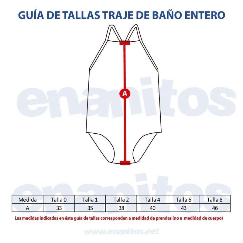 Guía de talla de Trajes de Baño Enteros