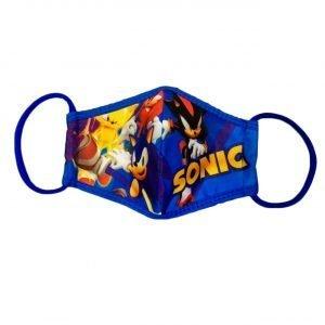 Tapa Boca Mascarilla de Tela de Sonic